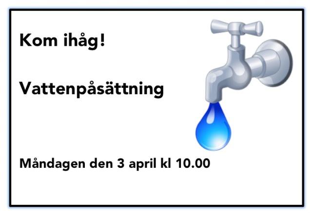 vattenpåsättning
