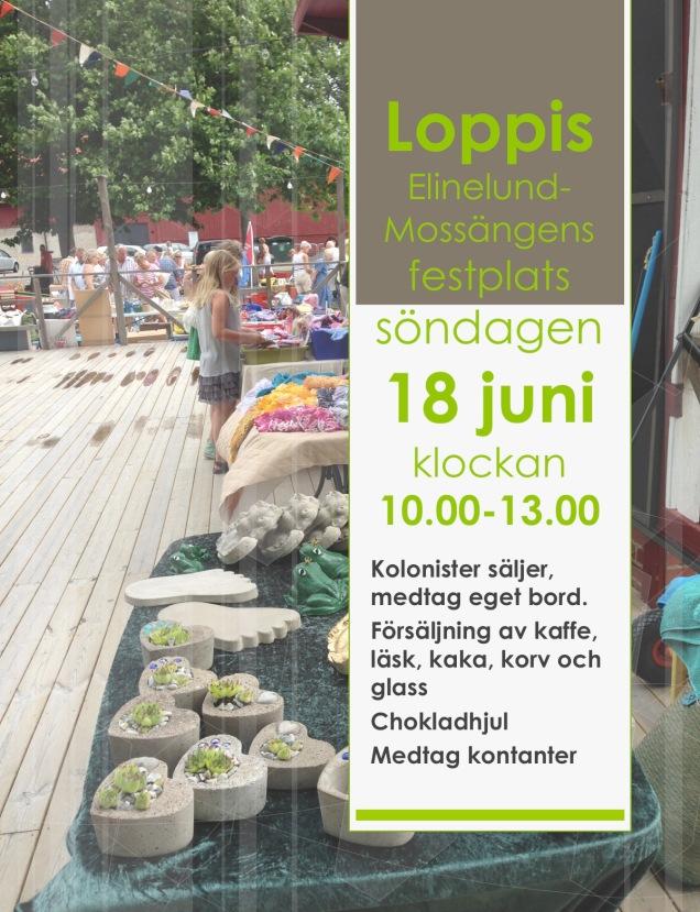 Loppis Elinelund-Mossängens festplats
